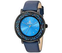 Armbanduhr für Damen mit Analog Anzeige, Quarz-Uhr und Lederarmband - Wasserdichte Damenuhr mit zeitlosem, schickem Design - klassische, elegante Uhr für Frauen - BM537-633 St. Lucia