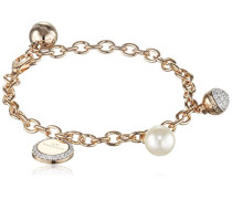 Damen-Armband Hollywood Vergoldet teilvergoldet Zirkonia weiß Synthetische Perle Weiß 17.0 cm - BHOBOO03