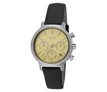 Damen-Armbanduhr Chronograph Quarz Leder JP101502004