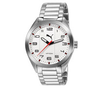 Pace Puma Unisex Armbanduhr Analog Edelstahl silber Armband PU103321001