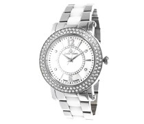 Damen-Armbanduhr Analog Quarz Premium Keramik Diamanten - STM13G437