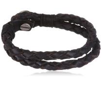 UMB71207  Herren-Armband Metall Leder 22 cm