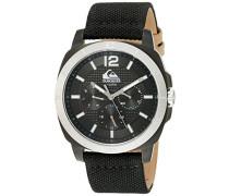Quiksilver Herren-Armbanduhr The Drifter Analog Edelstahl Schwarz QS/1004BKTI