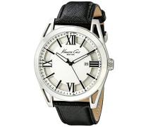 ikc8072–Uhr mit Edelstahlarmband für Herren, Weiß/Grau