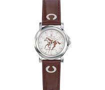 Certus-647592-Armbanduhr-Quarz Analog-Weißes Ziffernblatt-Armband PU Braun