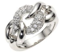 - Damenring mit weißen Zirkonias W.:56 368270004L-056
