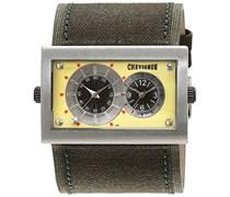 Chevignon Herren-Armbanduhr Analog Quarz Leder 92-0019-501