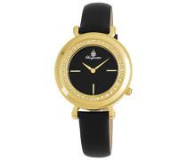 Armbanduhr für Damen mit Analog Anzeige, Quarz-Uhr und Lederarmband - Wasserdichte Damenuhr mit zeitlosem, schickem Design - klassische, elegante Uhr für Frauen - BM809-222 Bellevue