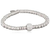 - FINENECKLACEBRACELETANKLET 925 Sterling-Silber  Silber Rundschliff   transparent Cubic Zirconia
