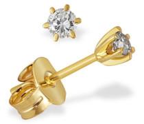 Damen-Ohrstecker Diamant Solitär 6er-Stotzen 585 Gelbgold 2 Brillanten 0,20 ct. So O3988GW Ohrringe Schmuck
