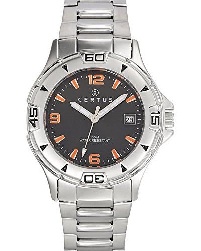 –616794–Armbanduhr–Quarz Analog–Zifferblatt schwarz Armband Stahl Silber