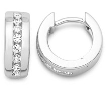 Miore Damen Creolen 925 Sterling Silber Zirkonia