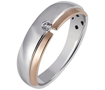 Damen-Ring 925 Sterling Silber rhodiniert Zirkonia weiß