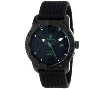 Herren-Armbanduhr XL Black Analog Quarz Silikon BM522-622C