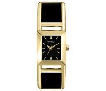 Caravelle New York Damen-Armbanduhr T-BAR Analog Quarz Edelstahl beschichtet 45L149