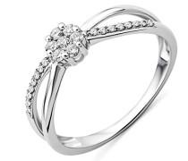 Damen-Ring Solitaire Gold (9 Karat) Diamant 0,25 Karat, Größe  52, MF9034R2