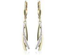 Diamonds by Ellen K. Damen-Ohrhänger 333 Gelbgold Brillant 0.08 Karat 453330004
