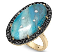 -  14 k (585)  Gelbgold Ovalschliff   blau Autre Diamant