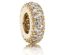Damen-Bead-Zwischenelement Pavé Inspiration 585 Gelbgold Zirkonia weiß - 750835CZ