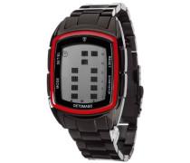 Herrenuhr Quarz Edelstahlgehäuse Edelstahlarmband Mineralglas SPACY TIMELINE LCD Digital Trend mehrfarbig/schwarz DT2013-D
