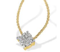 Damen-Collier Glamour 14 Karat 585 Gelbgold 13 Brillanten 0,22 ct. 45 cm Pa C5732GG