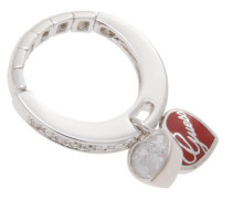 Damen-Ring Edelstahl Versilbertes Metall UBR81007-S