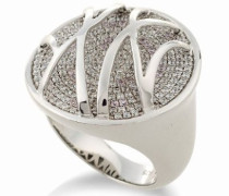 Damen-Ring High-End Micro Pave 925 Sterlingsilber mit Zirkonia