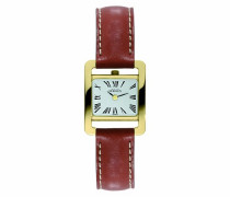 Michel Herbelin Damen-Armbanduhr Analog Quarz Leder 17037/P01GO