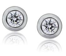 Damen-Ohrstecker 925 Silber rhodiniert Zirkonia weiß Rundschliff - ZO-7011/1
