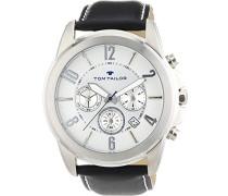 TOM TAILOR Herren-Armbanduhr XL Analog Quarz Leder 5413502