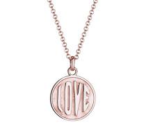 Damen-Kette mit Anhänger Love-Schriftzug 925 Silber 45 cm - 0103861716_45