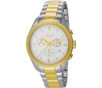 Herren-Armbanduhr XL Aspire Chronograph Quarz Edelstahl JP101042F11