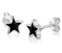 Damen-Ohrringe Ohrstecker Sterne Stern Emaille Astro Trend Filigran Sternzeichen silber 925
