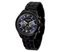 Herren-Armbanduhr XL Analog Quarz Edelstahl JG6100-21