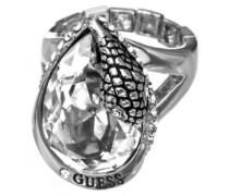 Damen-Ring Metalllegierung Zirkonia Tropfenschliff transparent
