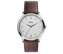 s.Oliver Herren-Armbanduhr Analog Quarz Leder SO-3171-LQ