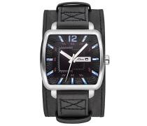s.Oliver Herren-Armbanduhr Analog Quarz Leder SO-3047-LQ