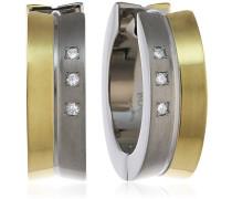 Damen-Creolen Titan Diamant weiß 0511-04