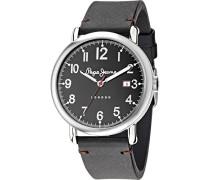 Pepe Jeans Herren-Armbanduhr Charlie Analog Quarz Leder R2351105008
