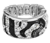Guess Damen-Ring Metall Kunststoff Zirkonia Gr.55 (17.5) UBR71201 - L