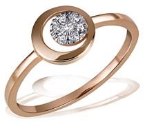 Damen-Ring Pavee 585 Rotgold 7 Diamanten 0,06 ct.