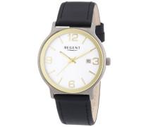 Herren-Armbanduhr XL Analog Quarz Leder 11190150