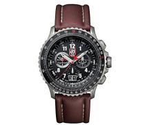 F-22 RAPTOR Herren-Armbanduhr Chronograph Quarz Leder - XA.9247