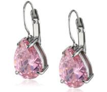 Damen-Ohrhänger Edelstahl Kristall pink 335330