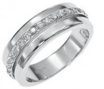 Damen Ring, Sterling-Silber 925, Zirkonoxid, 60 (19.1), D22027Z60