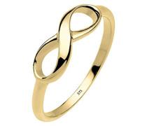 ELLI PREMIUM  Damen-Ring Stapelring Infinity 375 Gelbgold Gr. 54 (17.2) - 0610193114_54