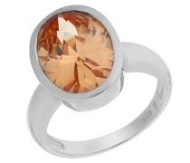 Damen-Ring 925 Sterling Silber mit Zirkonia champagne