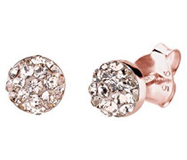 Damen-Ohrstecker Basic Klassik rosé-vergoldet mit Swarovski Kristallen im Brillantschliff rosa - 0311781414
