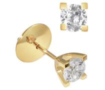 Damen-Ohrstecker 4 Stotzen inkl. externer Expertise 14 Karat 585 Gelbgold 2 Diamanten SI/H 1,00 ct. So O4165GG Ohrringe Brillanten Schmuck