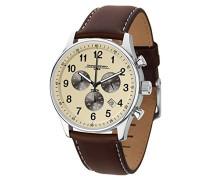 Herren-Armbanduhr Chronograph Quarz Leder JG5500-22
